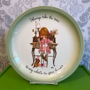 VINTAGE EUC Holly Hobbie Collector's Plate
